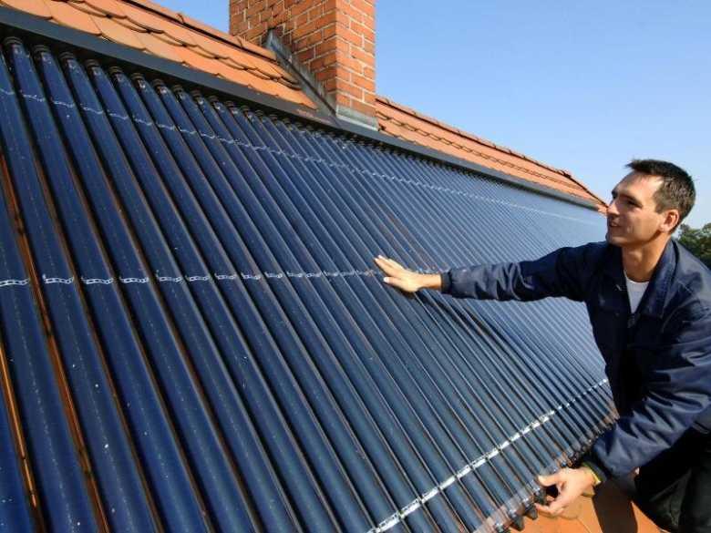 zonnecollector-installatie